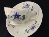 CAREWORN - Hilditch B8 shape teacup & saucer